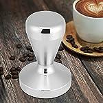 ERWEY Pressino per caffè,Base in Acciaio Inox 51mm/58mm,Manico in Legno Marrone Rossastro