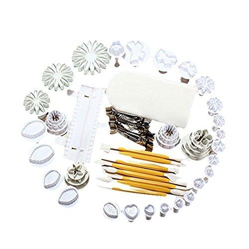 DealMux 13 conjuntos (43pcs) Cake Decoration Tool Set Fondant cortador de mbolo molde Sugar Craft gelo Decorao Flor Ferramentas de modelagem