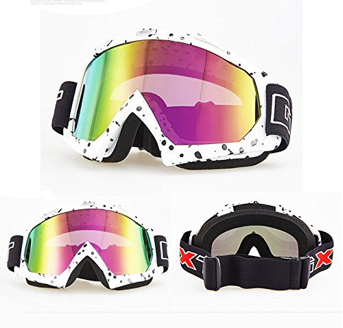 Fans Skiing motorcycle goggles, anti-twist anti-drop UV dustproof windproof safety neutral glasses for snow skiing, cycling, rock climbing, horse riding and outdoor sports glasses goggles - Lenses Can Replace In You Ray Bans