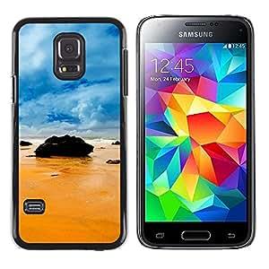 "For Samsung Galaxy S5 Mini ( NOT for regular S5 ) , S-type Rocas en la playa"" - Arte & diseño plástico duro Fundas Cover Cubre Hard Case Cover"