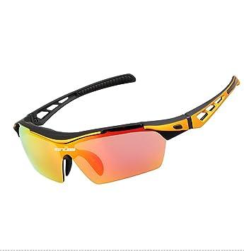 3c4135e04c GUB 5200 Sport Glasses Polarized Cycling Glasses with Myopia Frame Bike  Sunglasses TR Goggles Eyewear 3Lens-Orange
