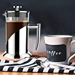 "Gorgeous [8 Cup] French Press Coffee Maker & Tea Maker (34 Oz) - Best Café Press Pot with 18/8 Grade Stainless Steel & No-Shatter Borosilicate Glass - Drink the Perfect Cafetiere Cuppa Every Time! 12 BLACK FRIDAY SUPER SALE COUPON - Want to save an EXTRA 10% TODAY Only? Use Coupon at checkout: LLPRIME1. Limited Stock! Expires Today! SKIP THE CAFÉ - OUR PATENTED SYSTEM IS 100 TIMES BETTER: Did you know that the IDEAL French press with the PERFECTLY SIZED micro filter actually UNLOCKS FLAVORS you've never tasted before? AROMAS you'll only find in a European Café? And the happiness only the perfect cuppa brings? Yeah, it's like that... 4 MINUTES - IMAGINE IF YOU COULD GET THE PERFECT CUPPA FASTER than your Barista could make it! If you're looking for a barista quality French press coffee maker that's actually FASTER than standing in line at you know where, then you'll love how our RAPID RELEASE stainless steel French Coffee press microfilter and plunger system delivers you SMOOTH, CREAMY COFFEE in 4 minutes or less! PICS DON'T DO IT JUSTICE! Stunning and sleek in design, this will have you (or your beloved gifted) saying ""OOOOH LA LA GORGEOUS!"" Every detail is accounted - from the COOLTouch handle to the LUSTROUS 18/8 CHROME STAINLESS STEEL to the curvaceous design, to the sparkling borosilicate glass - it's a VISION to behold."