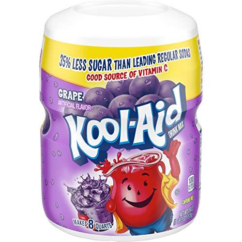 Kool-Aid Sweetened Grape Powdered Drink Mix, Caffeine Free, 19 oz Jar