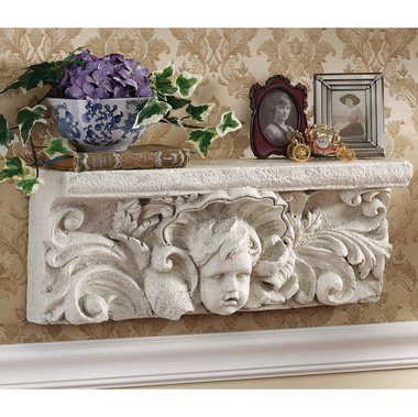 New Cherub - Cherish The Cherub Wall Shelf home garden sculpture New (The Digital Angel)