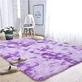 Noahas Abstract Shaggy Rug for Bedroom Ultra Soft