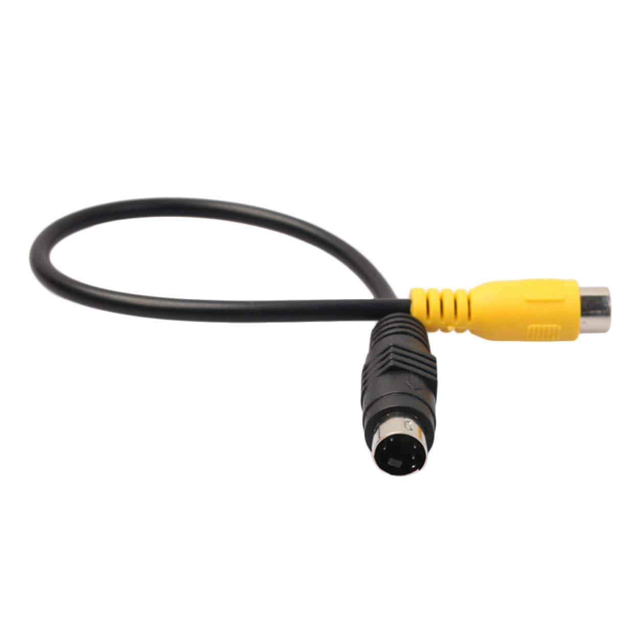 C/âble Adaptateur S-Video /à Composite vid/éo 6 Pouces 4 Broches Compatible avec Tous Les VGA avec Interface S-Video
