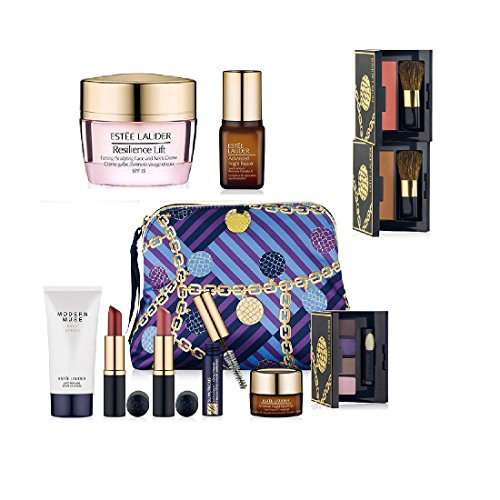 New Estee Lauder Fall 9pc Skincare Makeup Gift Set $165+ Value with Cosmetic Bag Macy's - Gifts Macy