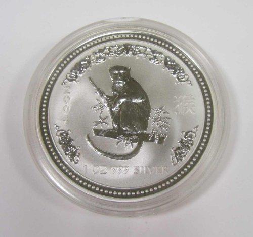 2004 Australian Lunar Series Year of the Monkey Silver Dollar $1 ()