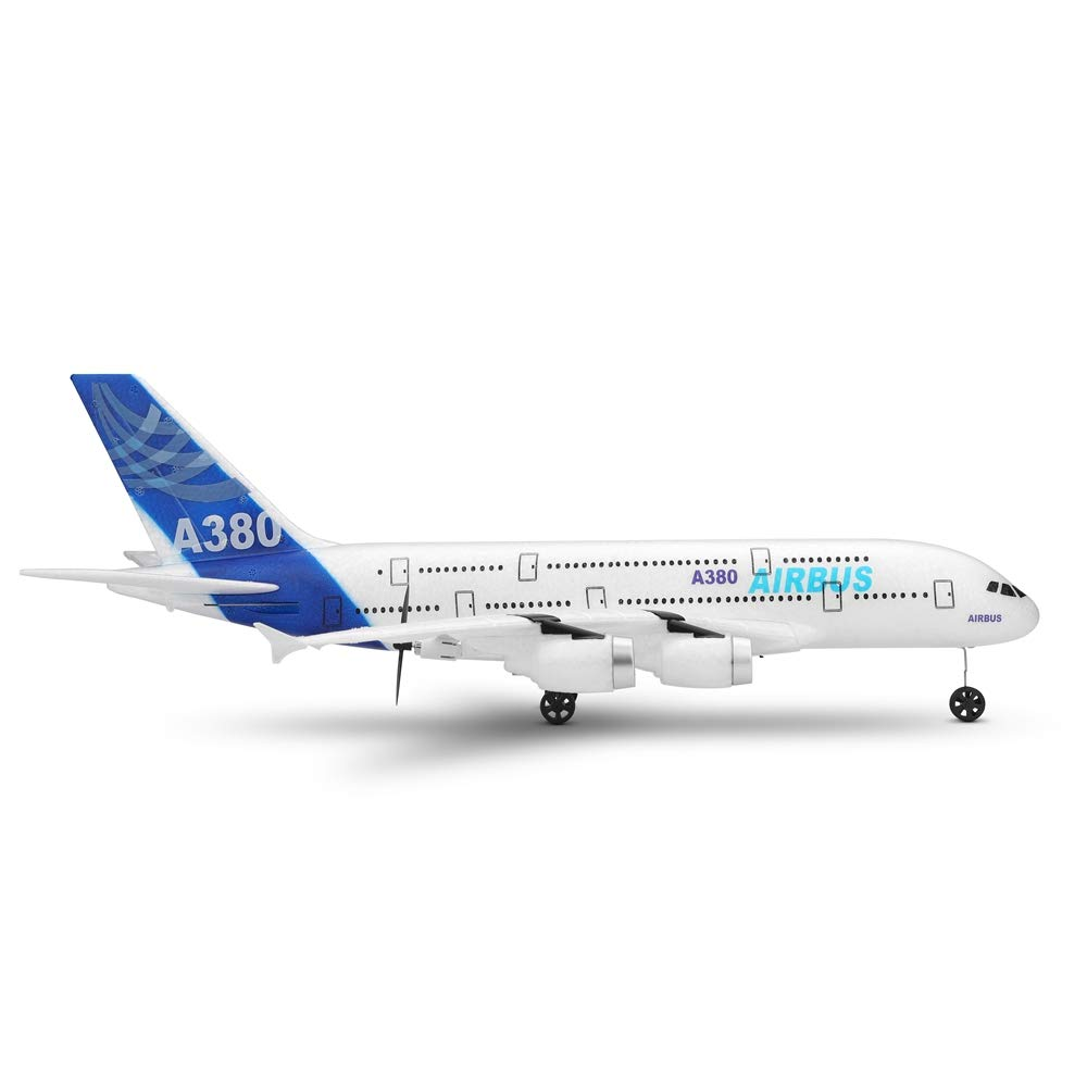 Wpond WLTOYS A120-A380 Airbus 510 mm Envergadura 2.4 GHz 3CH RC Avi/ón de ala Fija RTF con Modo 2 Control Remoto Escala Aeromodelling