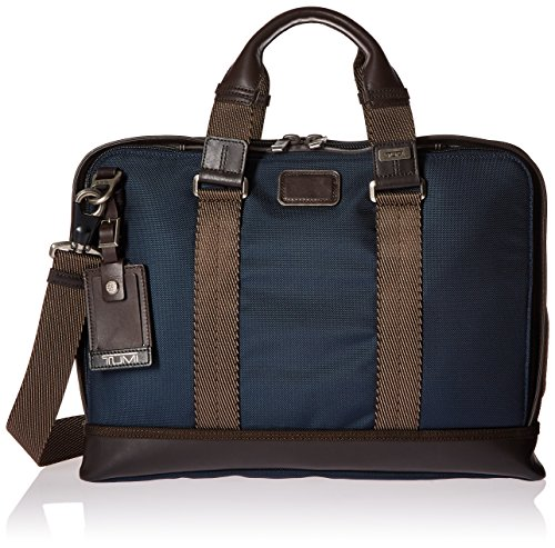 Tumi Alpha Bravo Andrews Slim Brief, Navy by Tumi