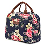 LOKASS Lunch Bag Cooler Bag Women Tote Bag Insulated Lunch Box Water-resistant Thermal