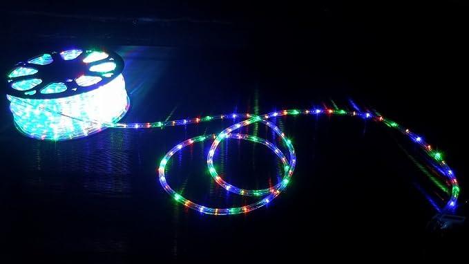 Tubo led luminoso vie mt per esterno multicolor luci natale