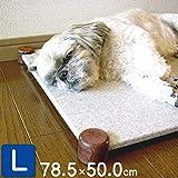ペット暑さ対策ひんやりマット 犬・猫用クールベッド (Lサイズ, 白系)