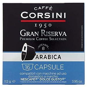 Caffè Corsini Capsule Compatibili Dolce Gusto Arabica - Confezione da 16