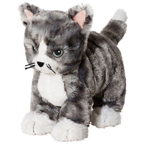 IKEA Kitty Cat Plush Stuffed Animal Soft Toy Gray White Tabby Lilleplutt -