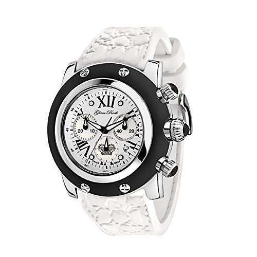 Glam Rock Women's GR30108 Summer Collection Chronograph Black Silicone Watch by Glam Rock