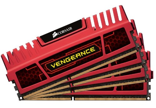 Corsair Vengeance Red 32GB (4x8GB)  DDR3 1866 MHZ (PC3 15000) Desktop Memory 1.5V - Ram Memory Card