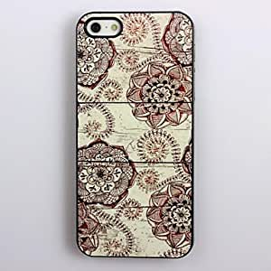 QHY Retro Flower Design Aluminum Hard Case for iPhone 4/4S