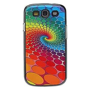 GDW Rotación de patrón caja dura colorida punto de la onda de aluminio para Samsung Galaxy S3 I9300