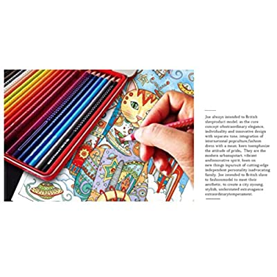 YEPLINS Adult Coloring Books with Pencils,Coloring Books for Adults Patterns,Adult Coloring Books Animals Cats (12 Color Pencils): Office Products