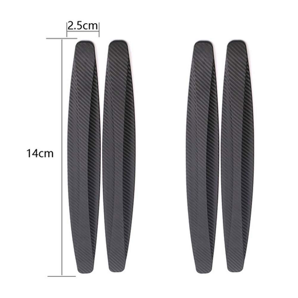 Snner 4Pcs Universal Patch Bumper Guard Strip Anti-Scratch Bumper Protector Trim for Cars SUV Pickup Truck Car Accessories-Black by Snner (Image #3)