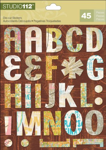 K&Company EK Success Studio 112 Alphabet Die-Cut Stickers