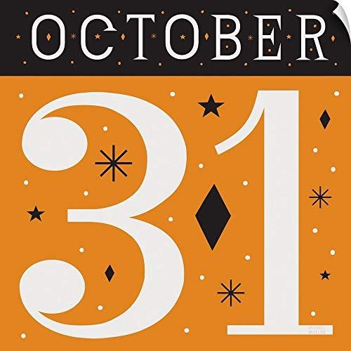 CANVAS ON DEMAND Festive Fright October 31 II Wall Peel Art Print, -