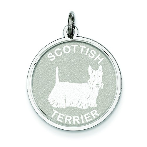 Sterling Silver Scottish Terrier Disc Charm