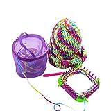 LtrottedJ New Mesh Bag Lightweight Portable Yarn Crochet Thread Storage,Organizer Tote (Purple)
