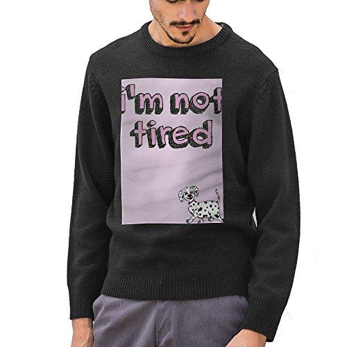 I'M Not Tired Men 2019 80s Vintage Crazy Long Sleeve Scoop Neck