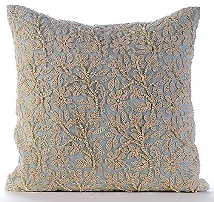 Amazoncom Designer Light Blue Euro Sham 26x26 Euro Pillow Cases