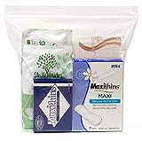 48 Kits - Bulk Case of Wholesale Basic Feminine/Menstruation Hygiene and Toiletries Kit for Women, Travel, Charity