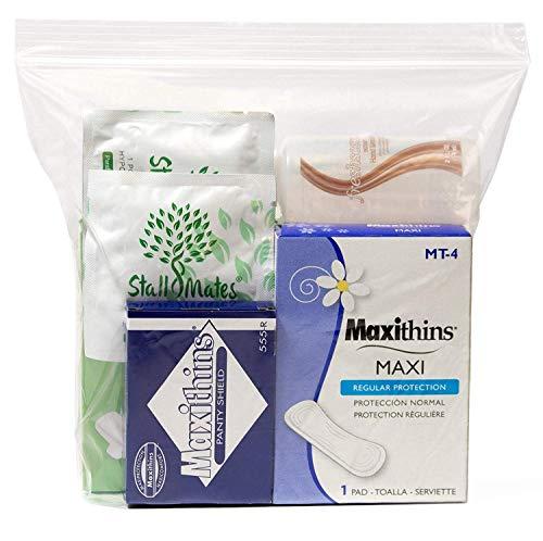 48 Kits - Bulk Case of Wholesale Basic Feminine/Menstruation Hygiene and Toiletries Kit for Women, Travel, Charity ()