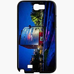 Unique Design Fashion Protective Back Cover For Samsung Galaxy Note 2 Case Bishkek Kyrgyzstan Victory Square Black