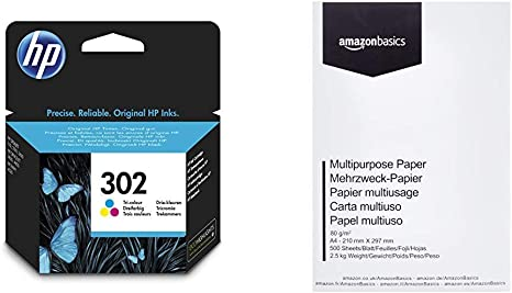 HP 302 F6U65AE - Cartucho de tinta para impresoras (4 ml), tri ...