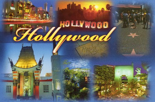 HOLLYWOOD LAC-1209 POSTCARD 6 MINI VIEWS - [ THIS IS one CARD WITH MULTIPLE SMALL PICS ] - From Hibiscus Express
