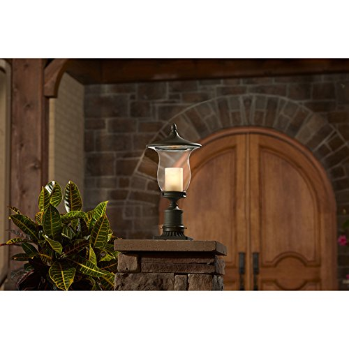 Allen + Roth LW-1059 Kensett 18.25-in H Bronze Post Light