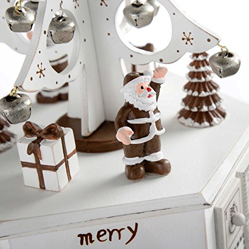 WeRChristmas Wooden Tree Advent Calendar Tower Christmas Decoration, 36 Cm - White by WeRChristmas (Image #3)