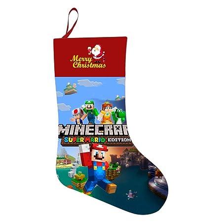 Super Mario Christmas Stocking.Ajing1991 Christmas Stocking Mine Craft Logo Personalized