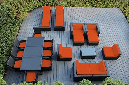 Ohana 20-Piece Outdoor Wicker Patio Furniture Sectional, ...
