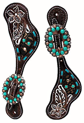 PRORIDER Western Riding Cowboy Boots Leather Spur Straps Tack ()