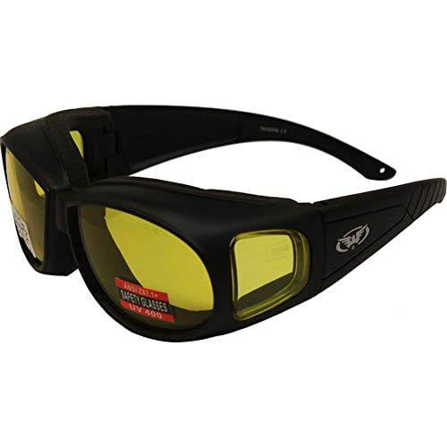 b6ff34ba04 Amazon.com  Outfitter Foam Padded Fits Over Most Prescription Eyewear  Yellow Lenses Meets ANSI Z87.1-2003 Standards For Safety Eyewear  Shoes