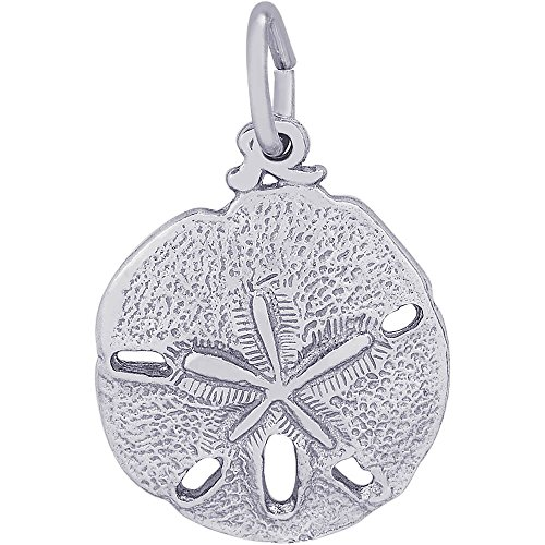 Rembrandt Charms Sterling Silver Sand Dollar Charm (15 x 15 mm)