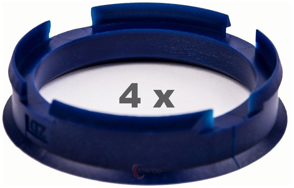 4 x Zentrierringe 72.6 mm auf 60.1 mm dunkelblau/darkblue Pneugo