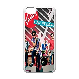 Popular And Durable Designed TPU Case with The Vamps iPhone 5c Cell Phone Case White