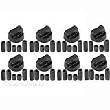 Spares2go Universal Black Control Switch Knobs For all makes And models Of Oven, Cooker & Hob (Pack Of 8)