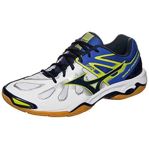 Mizuno Wave Phantom - 41- Zapatillas de balonmano para hombre, blanco / azul
