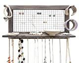 Jewelry Organizer with Bracelet Holder Pegs (Rustic)