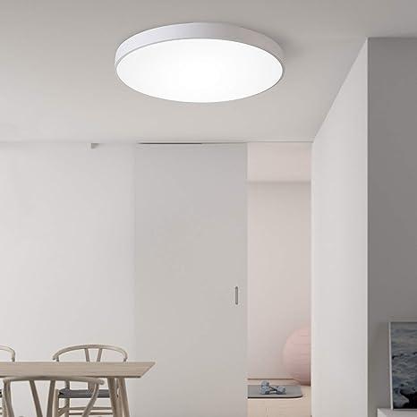 Flur Decken Leuchten Ø 60 cm Stoff Gold mit 3x Philips LED Lampen 8W Wohn Zimmer