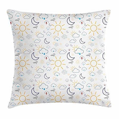 Gorgeous products Funda de cojín con diseño de Sol y Luna ...